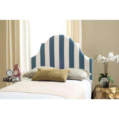 Hallmar Navy & White Twin Headboard