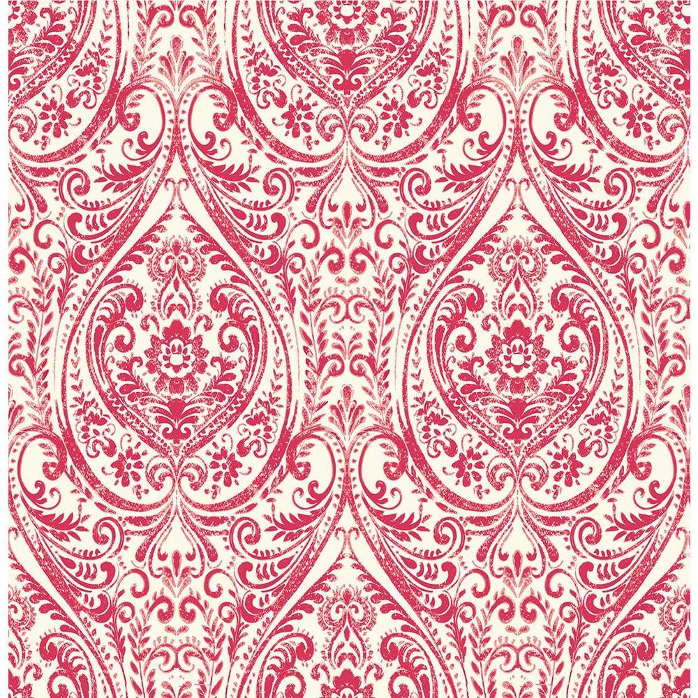 Gypsy Red Damask Wallpaper