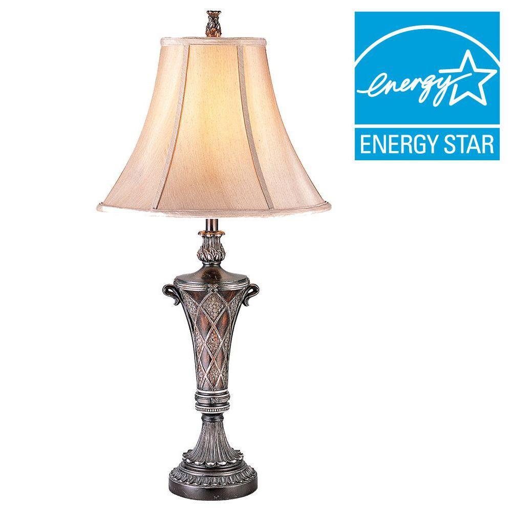 33 in. Bronze Table Lamp
