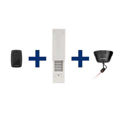 Universal Garage Door Remote Control, Wireless Keypad and Laser Park Assist Bundle