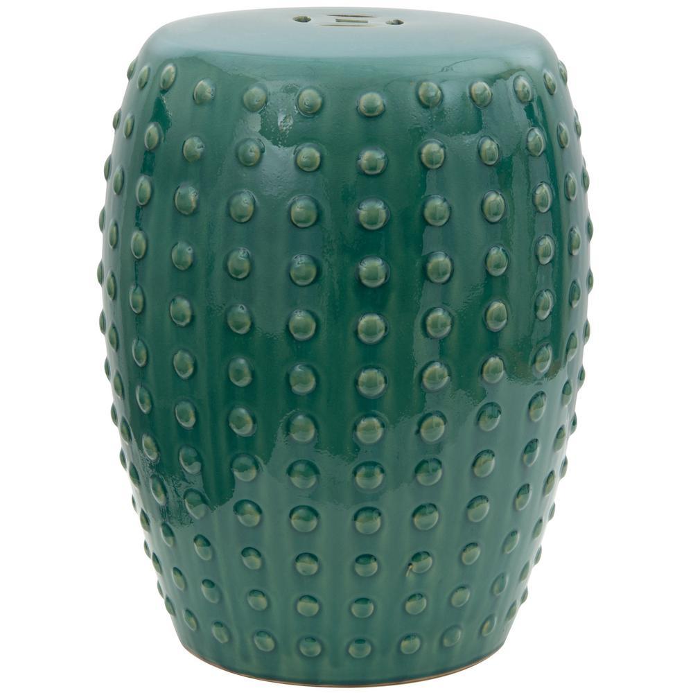 Oriental Furniture Green Porcelain Ottoman