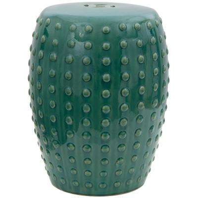 Oriental Furniture Green Porcelain Ottoman