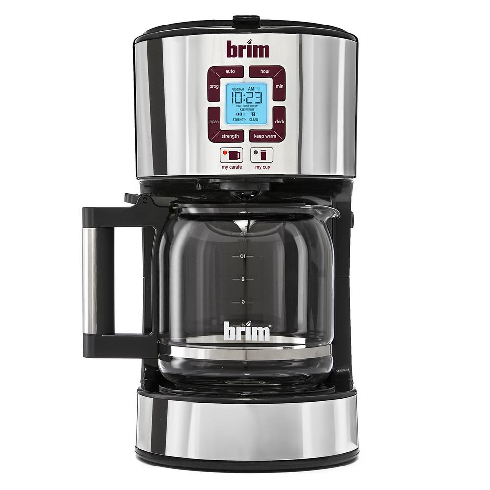 Coffee Maker Carafe And Single Cup Sensio Brim 12 Cup Coffee Maker Brm50002 The Home Depot