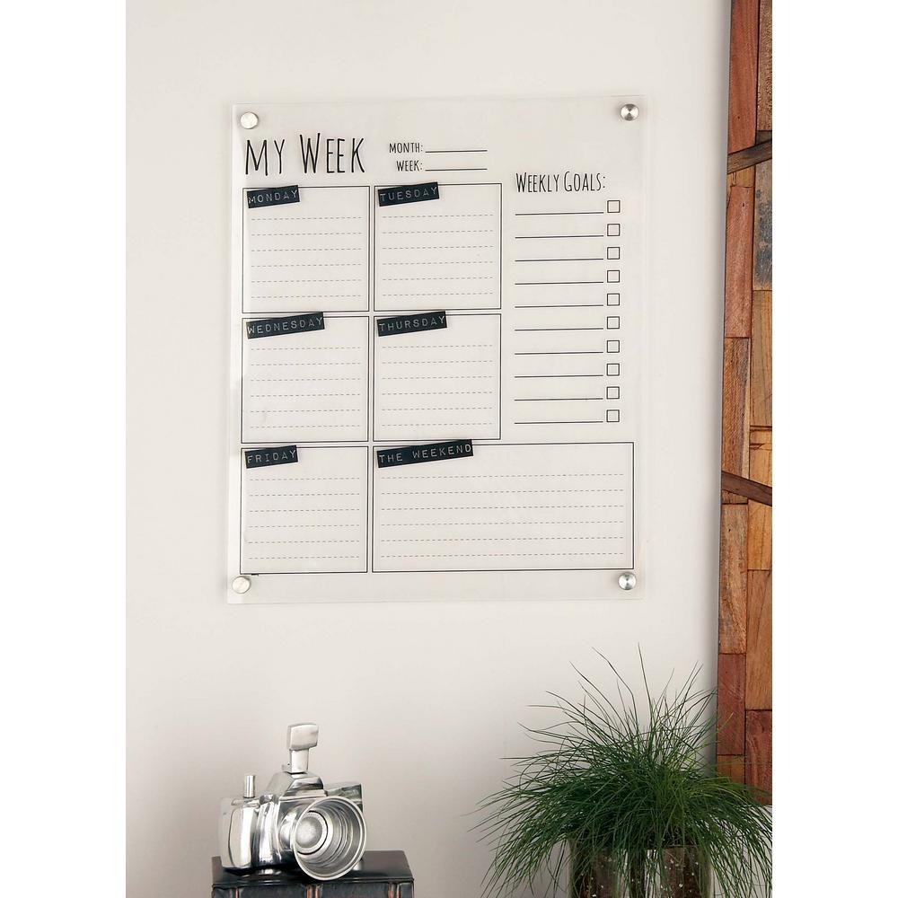 White Acrylic Combo Memo Board