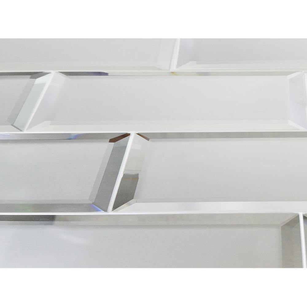 silver matte glass mirror wall tile