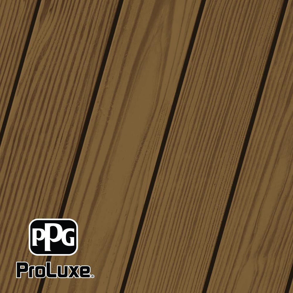 PPG ProLuxe 5 gal. #HDG-ST-213 Butternut SRD Exterior Semi-Transparent Matte Wood Finish