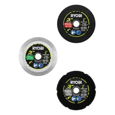3 in. Multi-Material Cut-Off Wheel Set (3-Pack)