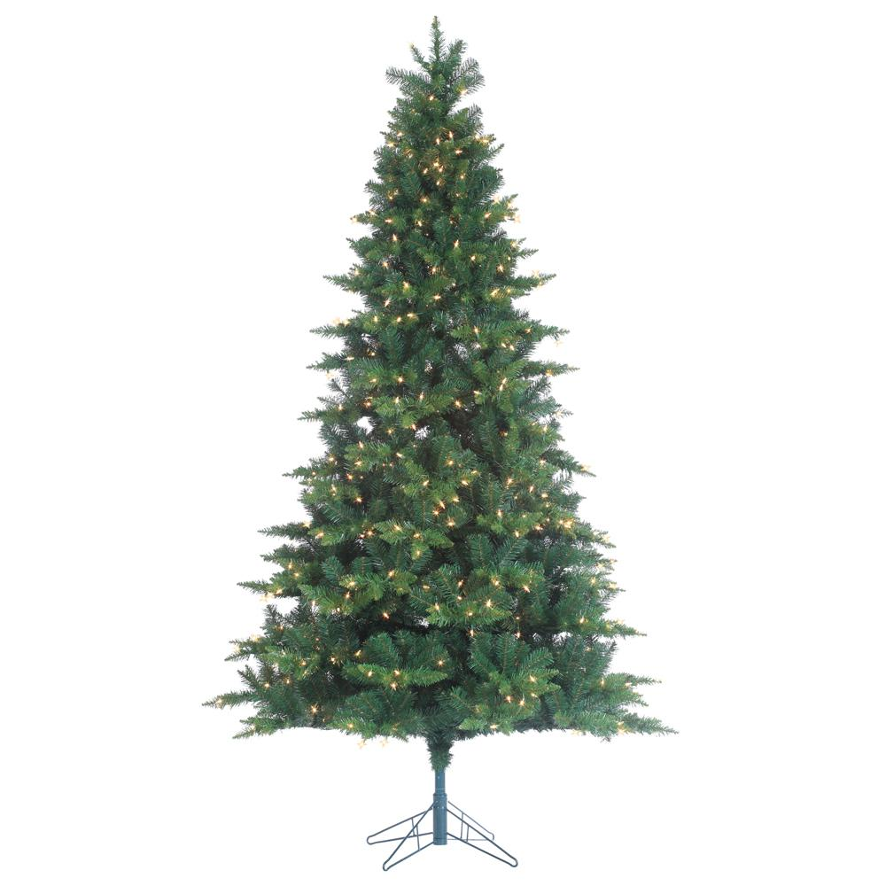 STERLING 7.5 ft. Indoor Pre-Lit Longwood Pine Artificial Christmas ...