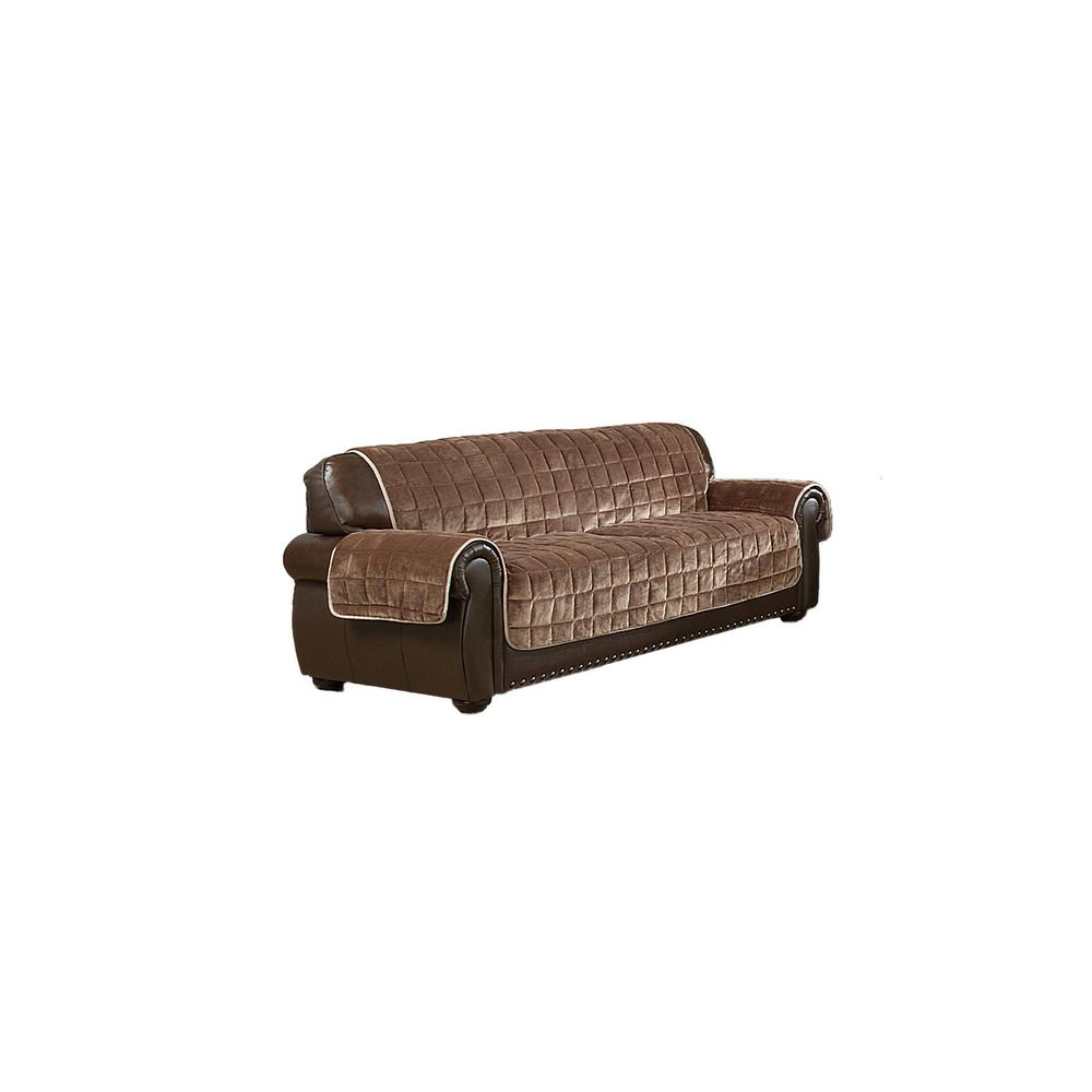 Brilliant Joseph Water Resistant Taupe Mocha Fit Polyester Fit Sofa Slip Cover Beatyapartments Chair Design Images Beatyapartmentscom