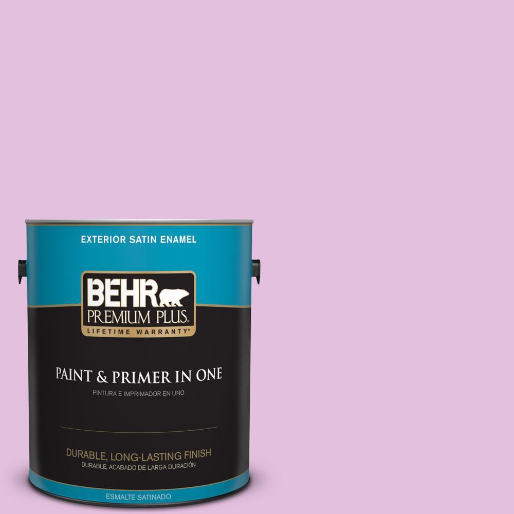 BEHR Premium Plus 1-gal. #P110-2 Girl Talk Satin Enamel Exterior ...