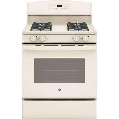 30 in. 5.0 cu. ft. Free-Standing Gas Range with Self-Cleaning Oven in Bisque