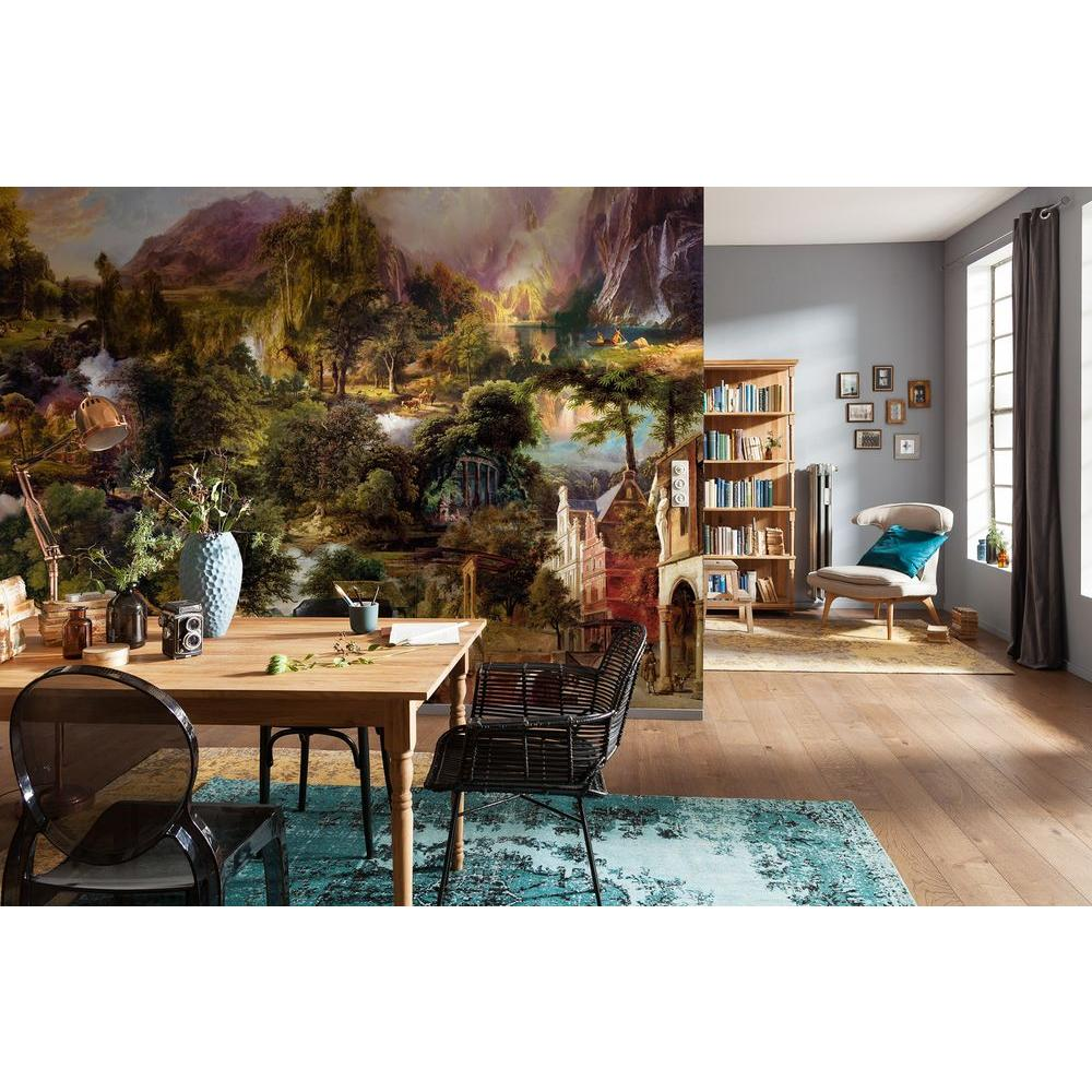 Komar 87 in x 34 in sailing ship wall mural 2 1017 the home depot w heritage wall mural amipublicfo Gallery