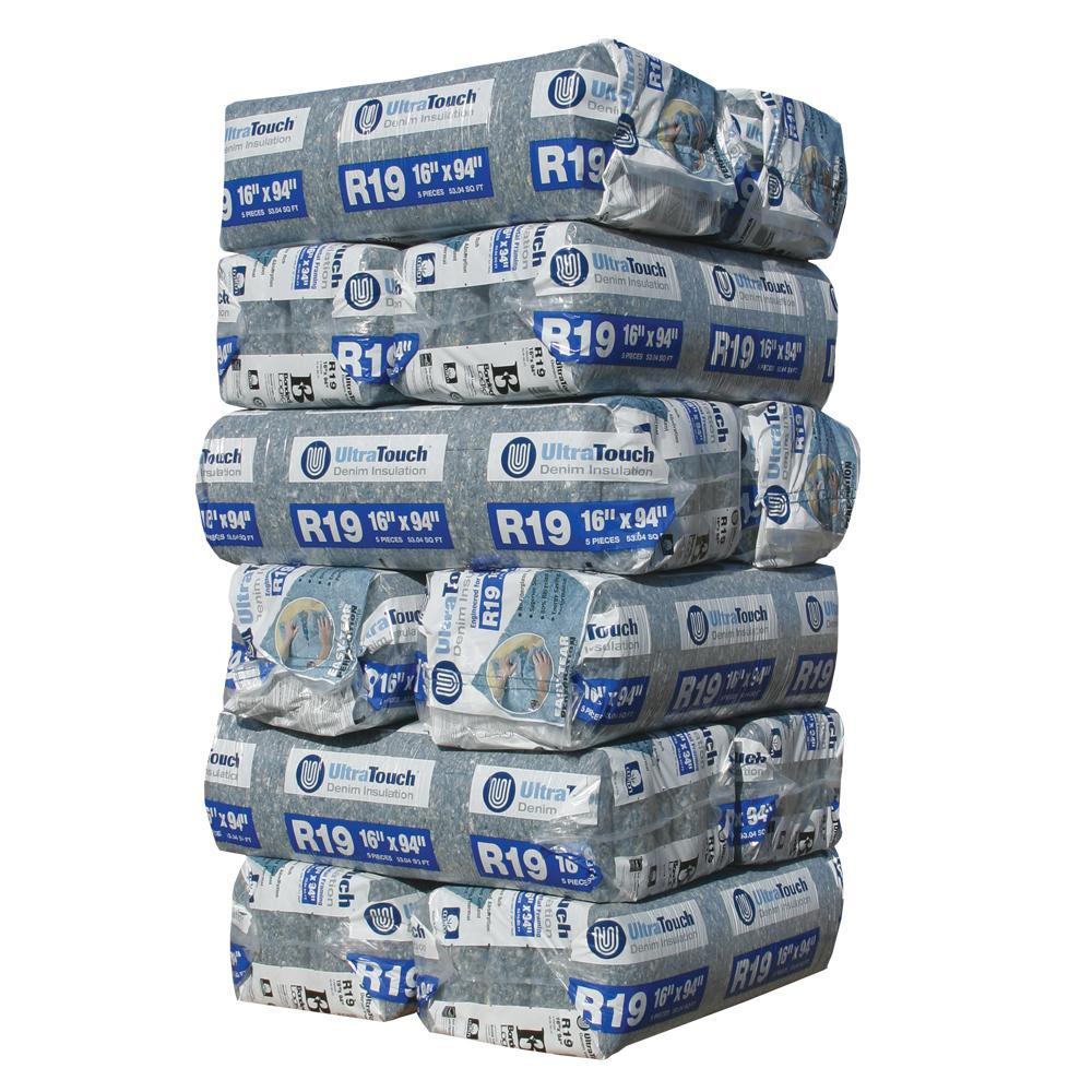 UltraTouch R-19 Denim Insulation Batts 16.25 in. x 94 in. (12-Bags)