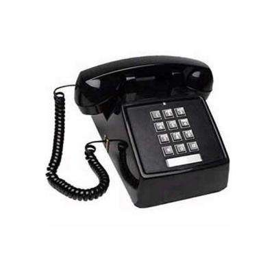 Desk No-Dial Corded Telephone - Black