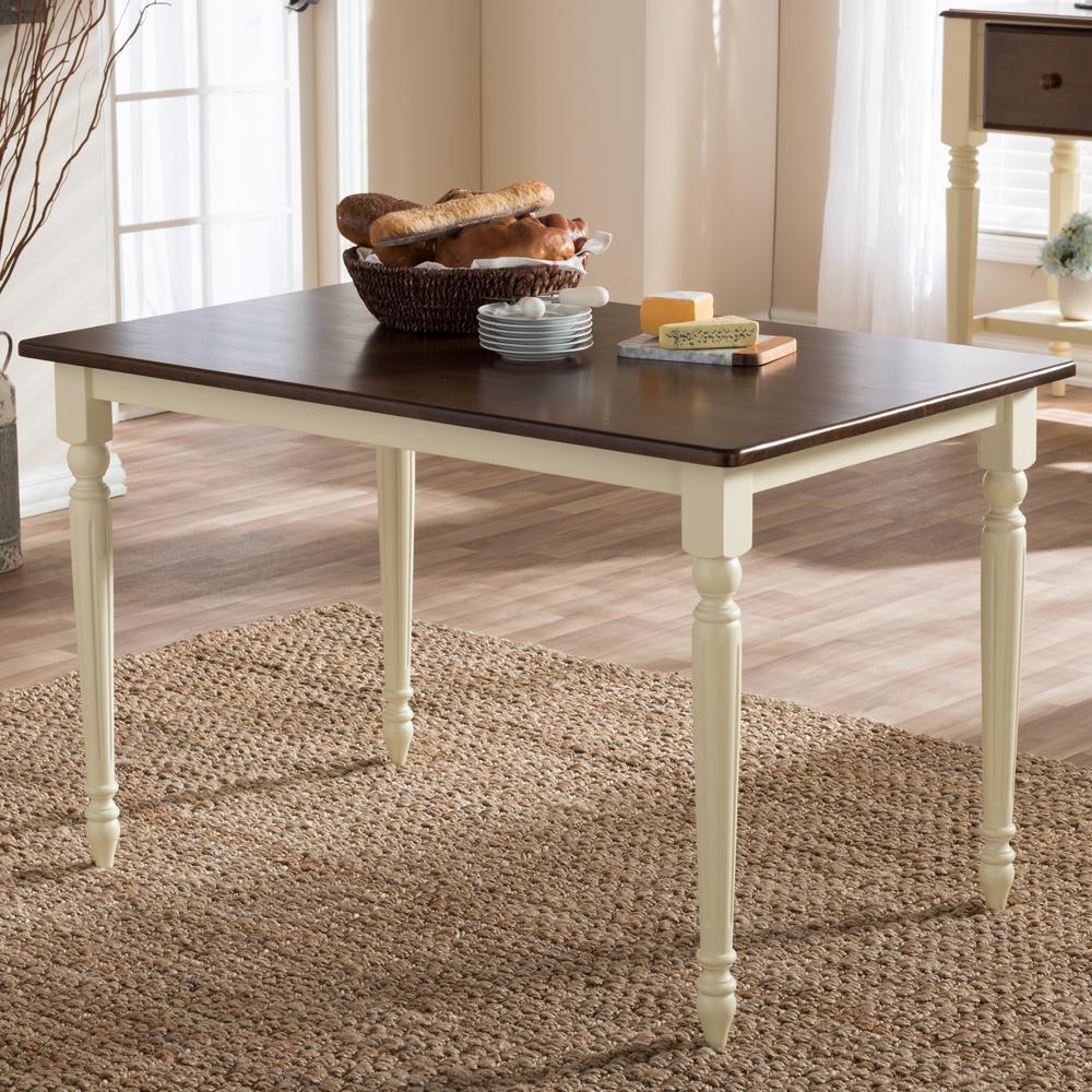 Baxton Studio Napoleon Medium Brown Finished Wood Dining Table 28862-6943-HD