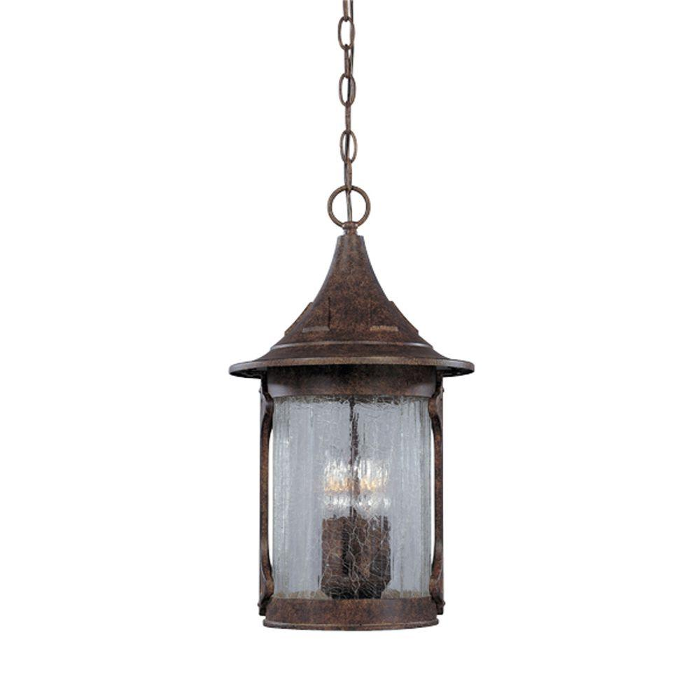 Designers Fountain Mill Creek 4-Light Chestnut Outdoor Hanging Lamp