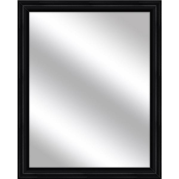 Ptm Images Medium Rectangle Black Art Deco Mirror 32 75 In H X 26 75 In W 5 15373 The Home Depot