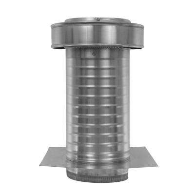 7 in. Dia. Aluminum Keepa Ducted Vent with Tail Pipe in Mill Finish