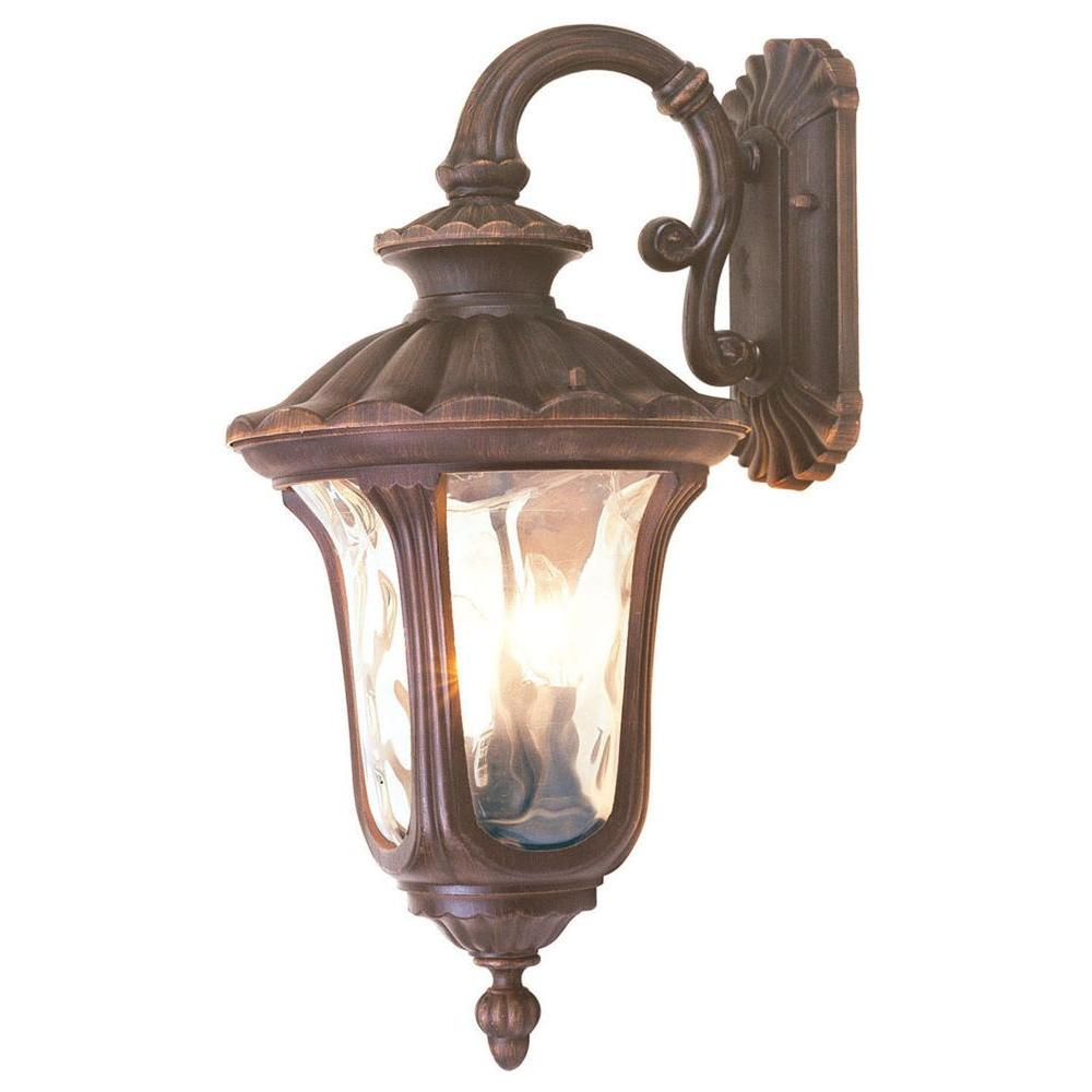 Livex Lighting Providence Wall-Mount 3-Light Imperial Bronze Outdoor Incandescent Wall Lantern Sconce