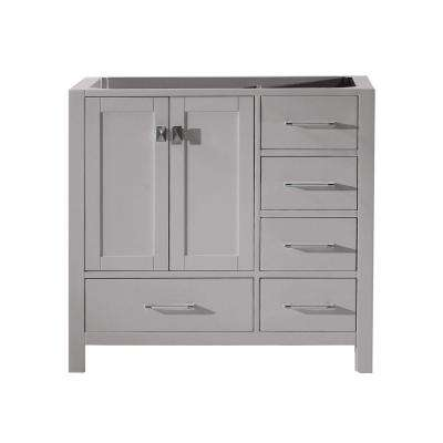 Caroline Avenue 36 in. W Bath Vanity Cabinet Only in Cashmere Gray