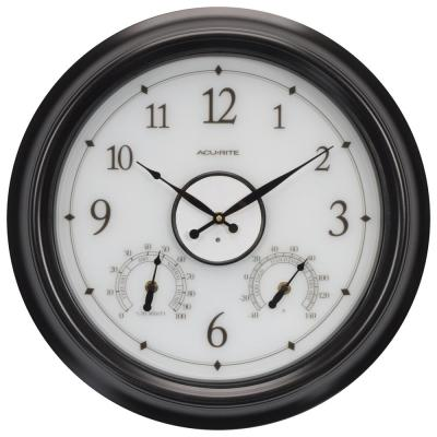 18 in. LED Clock with Temperature and Hygrometer