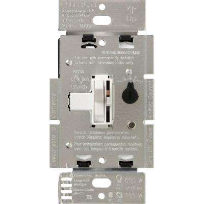 Toggler C.L Dimmer Switch for Dimmable LED, Halogen and Incandescent Bulbs, Single-Pole or 3-Way, White
