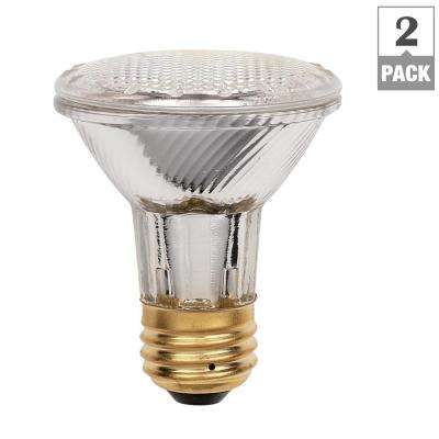 38-Watt Halogen PAR20 Eco-PAR PLUS Clear Flood Medium Base Reflector Light Bulb (2-Pack)
