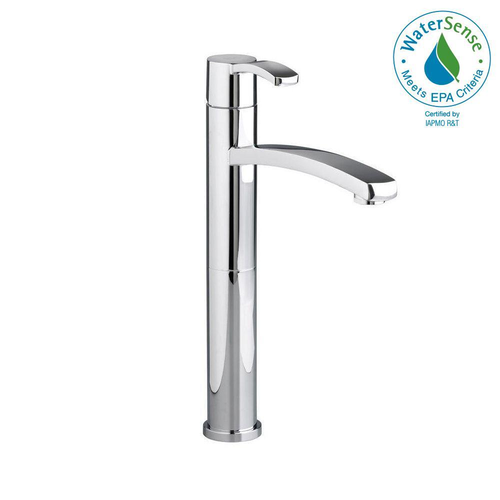 Berwick Single Hole Single-Handle Low-Arc Vessel Bathroom Faucet in Polished Chrome