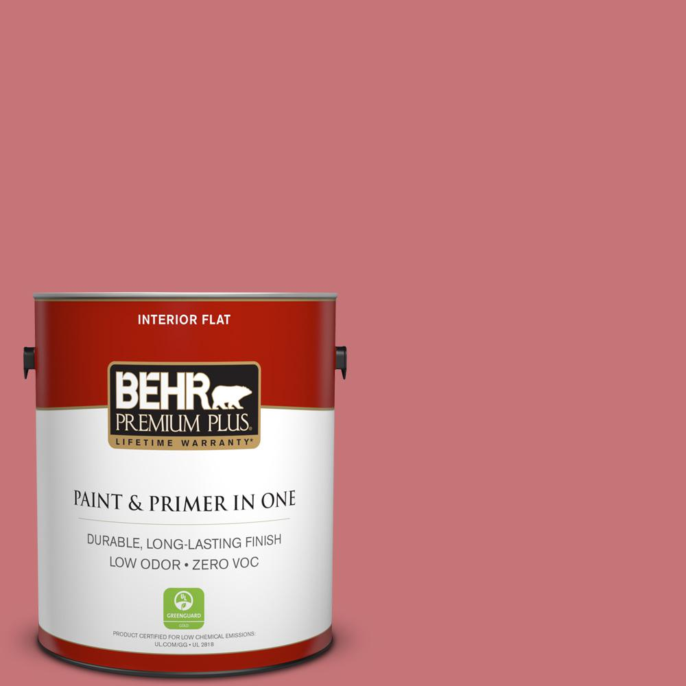 1-gal. #140D-5 Rose Chintz Zero VOC Flat Interior Paint