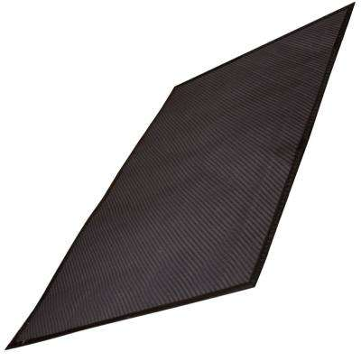 32 in. x 48 in. Brown BBQ Mat with Grid
