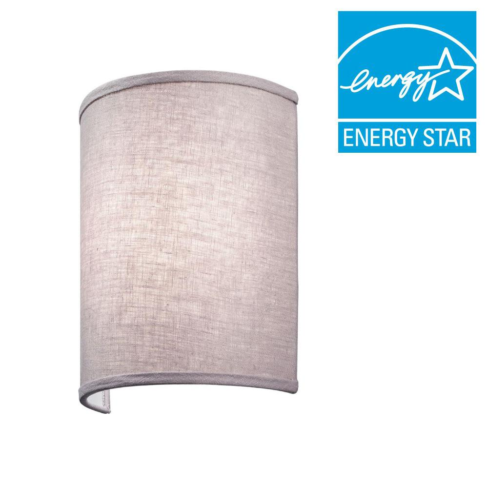 Lithonia Lighting Aberdale 11 in. LED Lilac Linen Sconce