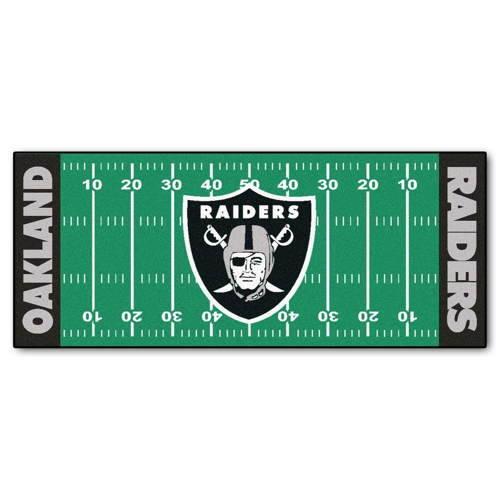 Dallas Cowboys Football Field Rug: FANMATS Oakland Raiders 2 Ft. 6 In. X 6 Ft. Football Field