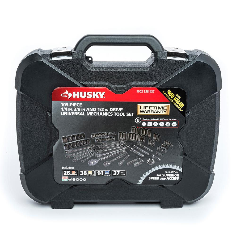 Husky Mechanics Tool Set 105 Piece H100105mts The Home Depot