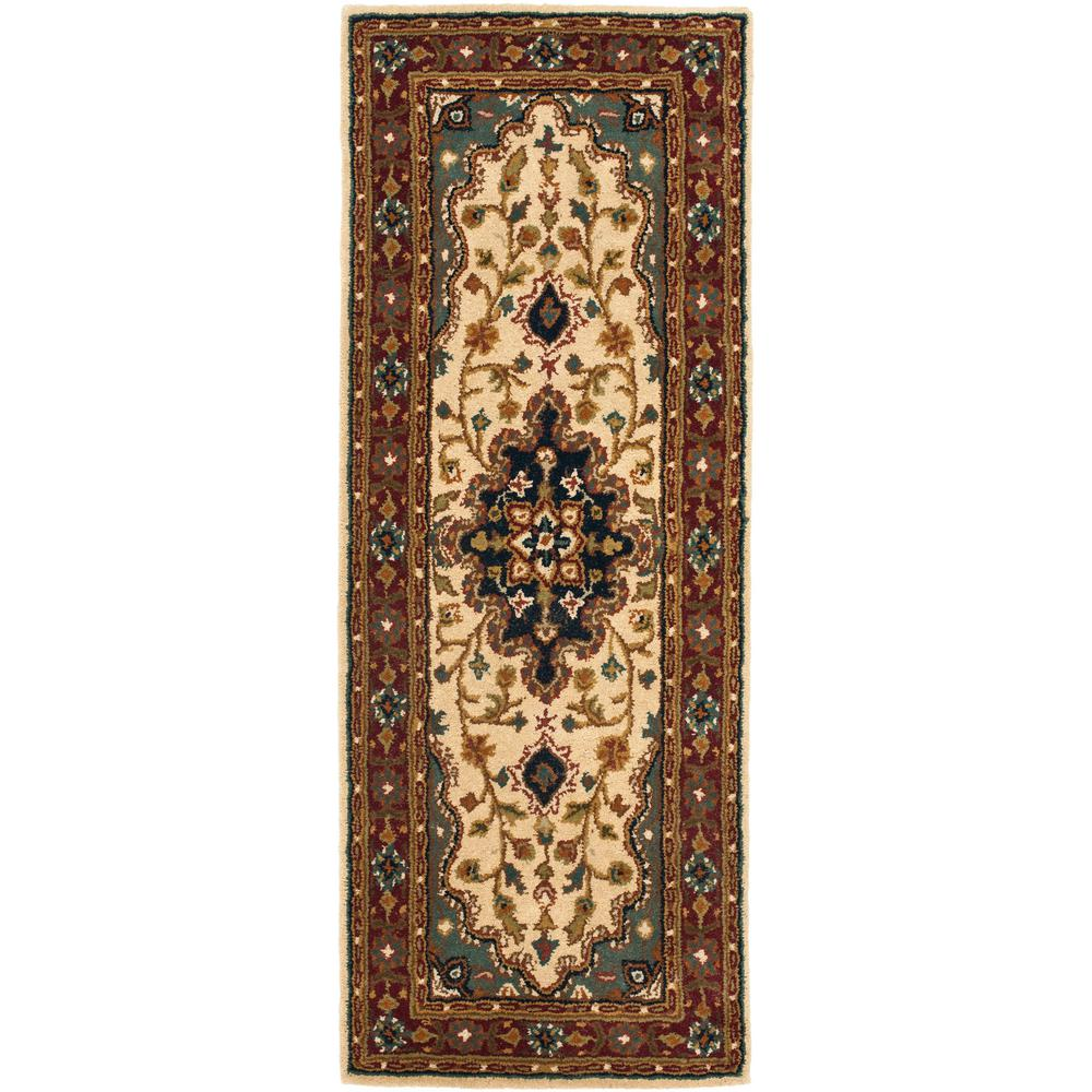 Heritage Ivory/Red 2 ft. 3 in. x 12 ft. Runner