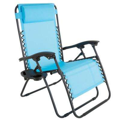 Oversized Zero Gravity Patio Lawn Chair in Blue