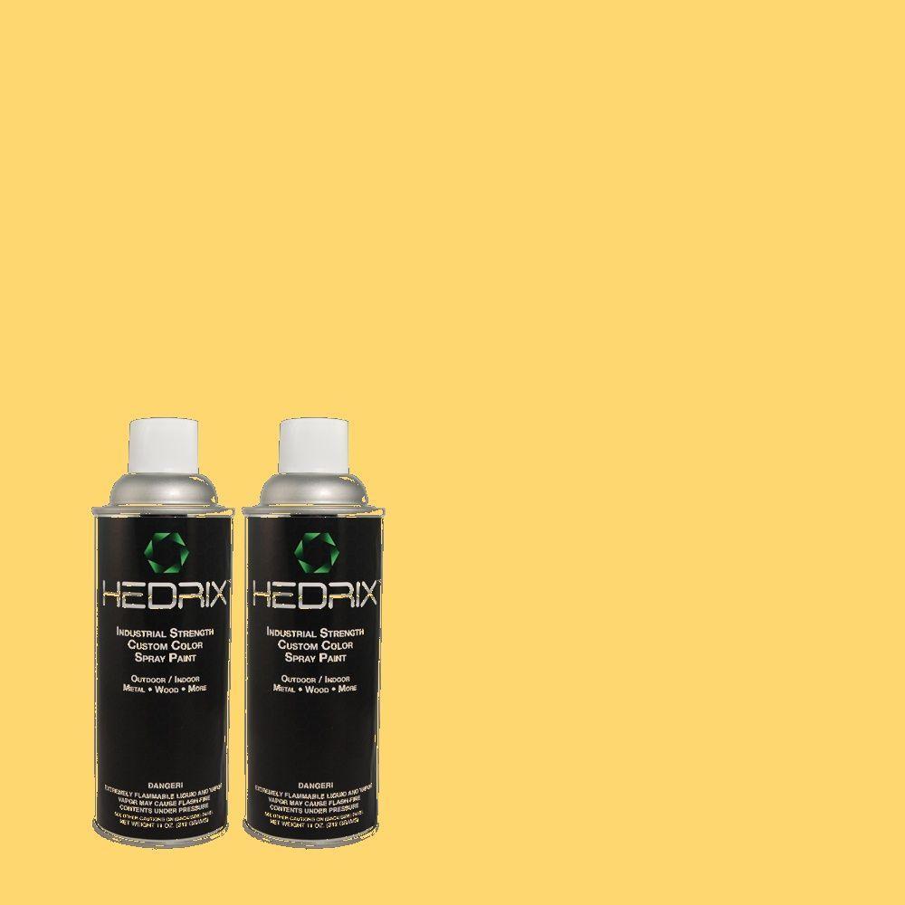 Hedrix 11 oz. Match of 1A7-5 Sunbeam Flat Custom Spray Paint (2-Pack)