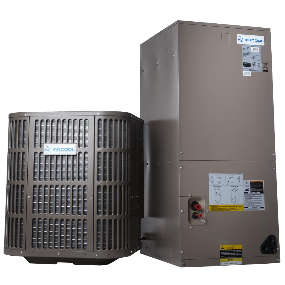 Mrcool 2 ton 24 000 btu 14 seer r410a split system central for Best central heating system