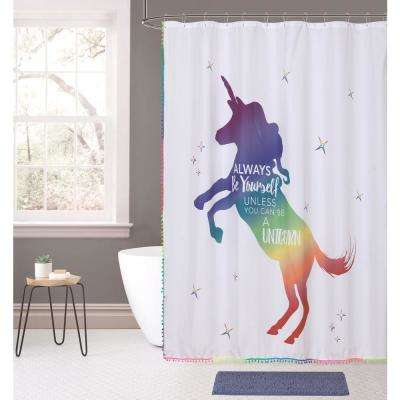 Rainbow Unicorn 14-Piece Bath Rug and Shower Curtain Set
