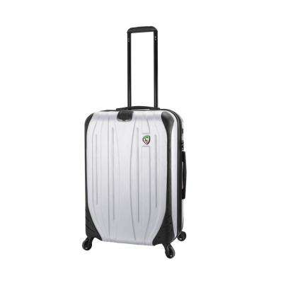 Compaz 24 in. White Hardside Spinner Suitcase