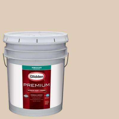 5 gal. #HDGWN32 Water Chestnut Semi-Gloss Interior Paint with Primer