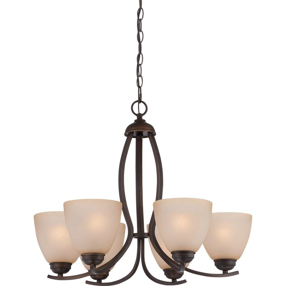Illumina Direct Abxia 6-Light Bronze Patina Chandelier
