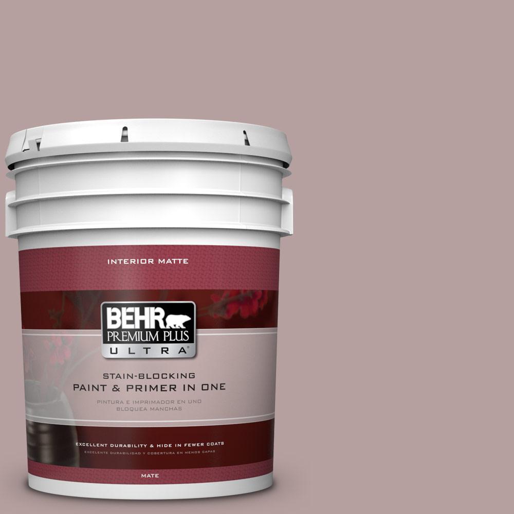 5 gal. #N130-4 Plum Taupe Matte Interior Paint