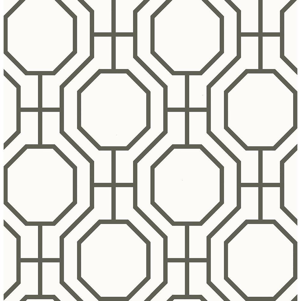A-Street Circuit Black Modern Ironwork Wallpaper 2625-21844