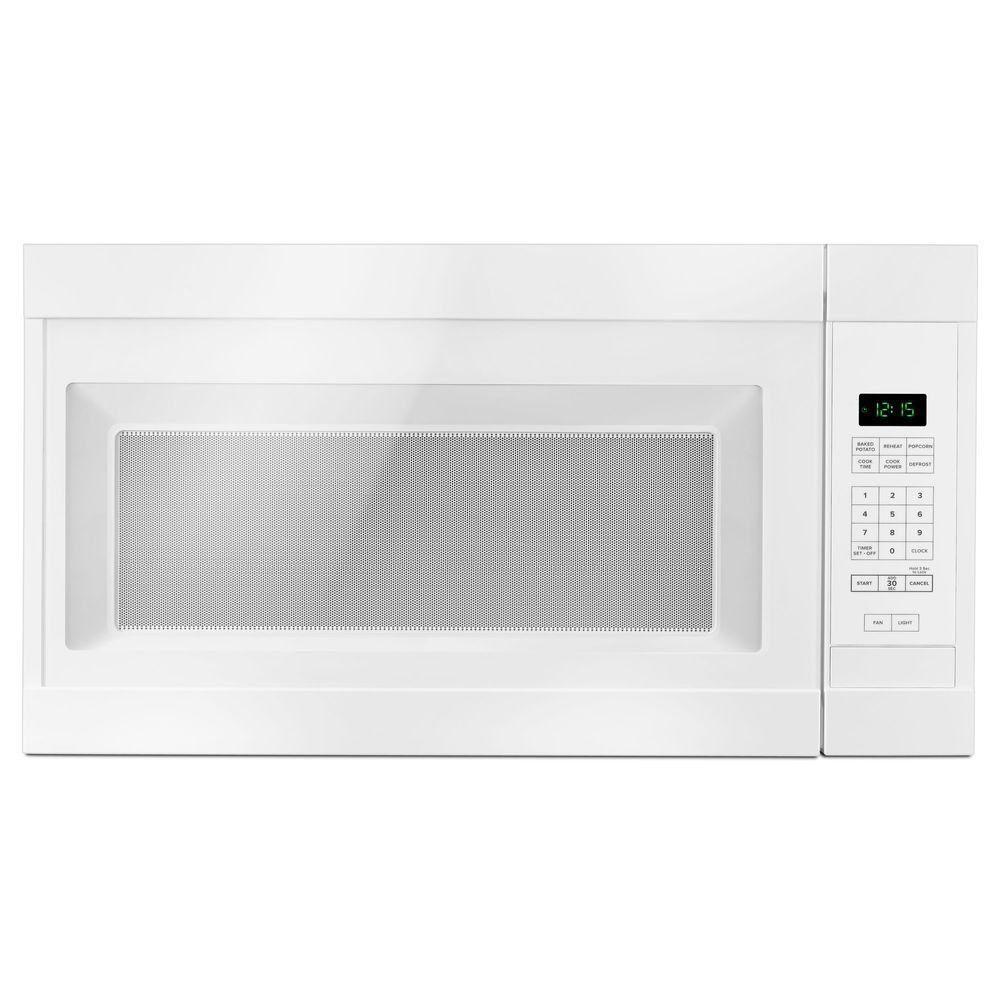 Amana 1 6 Cu Ft Over The Range Microwave In White