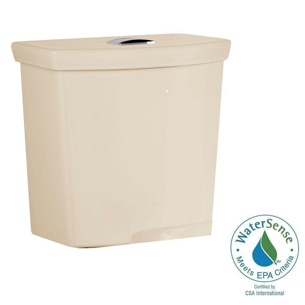 H2Option 0.92/1.28 GPF Dual Flush Toilet Tank Only in Bone