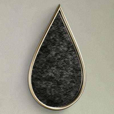 Gold Teardrop Framed Antiqued Wall Mirror