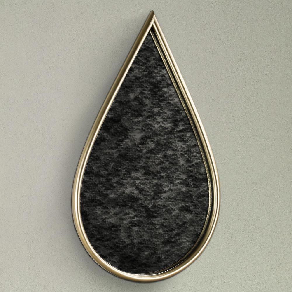 Gold Teardrop Framed Antiqued Wall Mirror