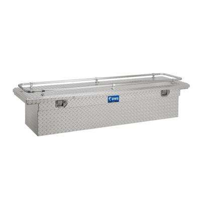 69 in. Aluminum Single Lid Crossover Tool Box Low Profile with Rail