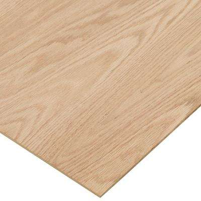 1/4 in. x 2 ft. x 4 ft. PureBond Red Oak Plywood Project Panel (Free Custom Cut Available)