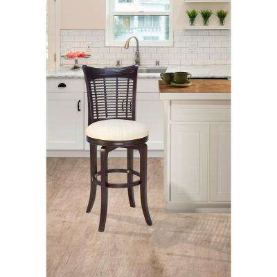 Bayberry 24 in. Dark Cherry Swivel Cushioned Bar Stool